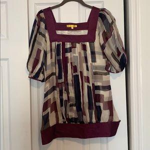 Catherine Malandrino Silk blouse-Size 2